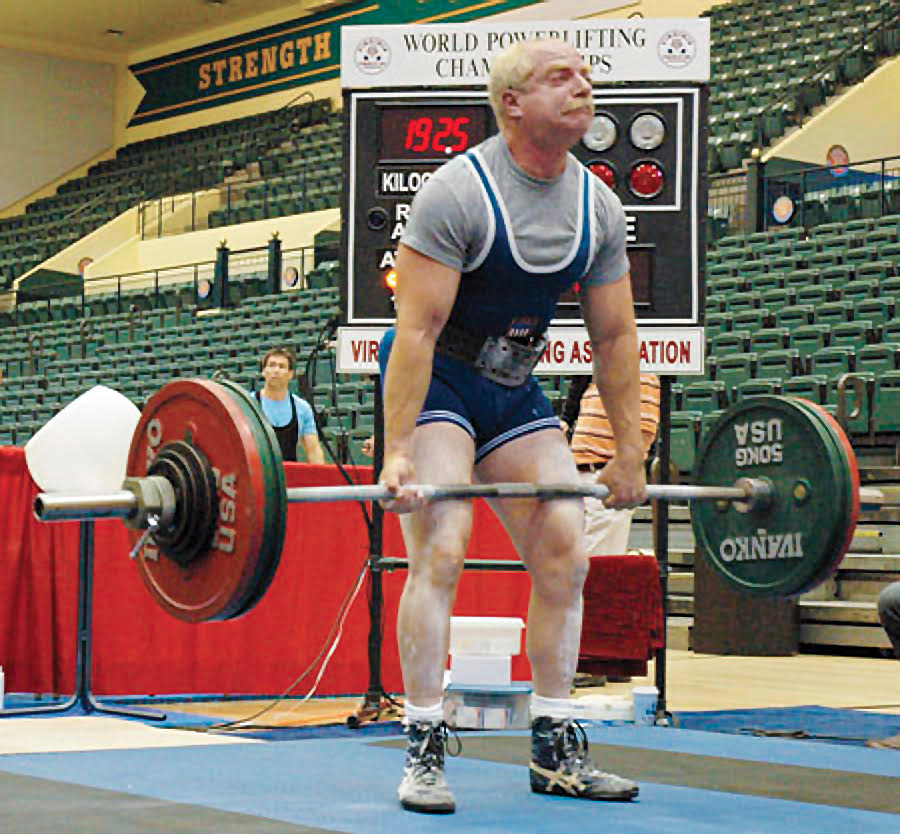 robert herbst participating in a weightlifting competition